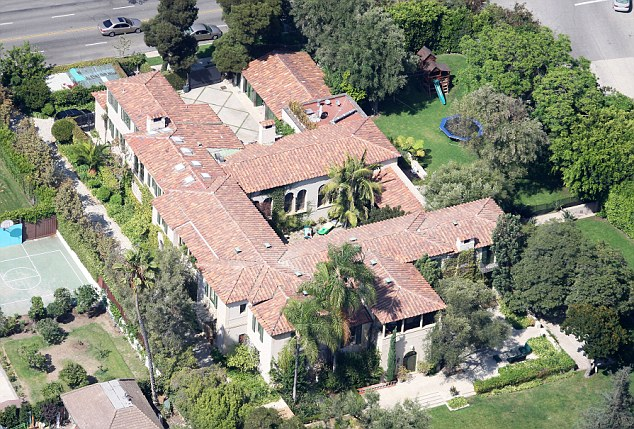 Assets: The pair have shared interests in a abundance, not least their Spanish style mansion in Hancock Park