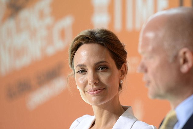 Angelina Jolie is a UN representative on sexual violence in war. She has been campaigning on the subject with Mr Hague (right) since the Coalition came to power in 2010