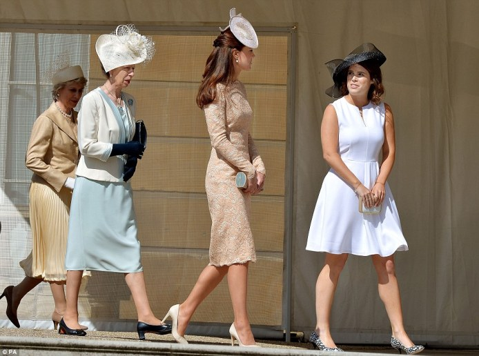 Kate Middleton, Princess Anne, and Princess Eugenie