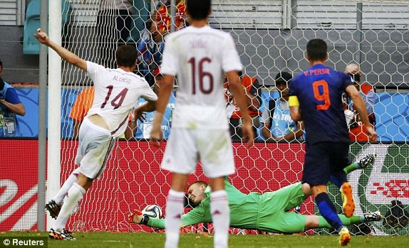 Image result for xabi alonso penalty vs netherlands