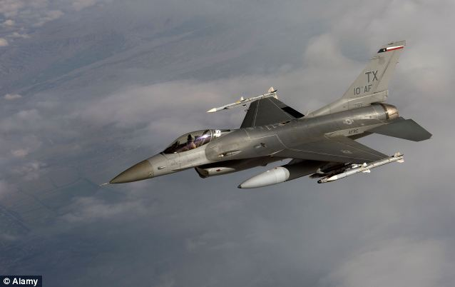 Shock and awe: The US has an air base with F-16 Falcons that were used to hit ground targets in the Iraq War