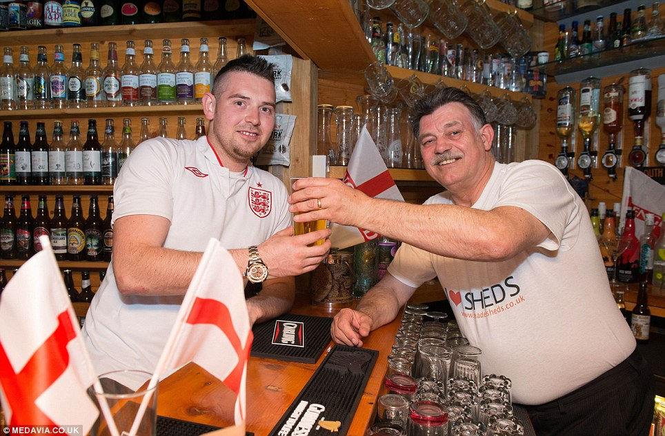 Equipped with a full bar, shelves of ale and bottles of spirits, the shed allowed them to get away from the spectators who were expected to flood into 32,00 pubs