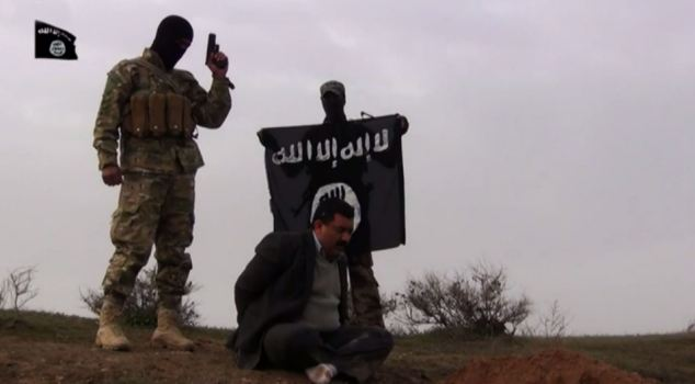 ISIS rebels execute a civilian and film the event before broadcasting it on the internet