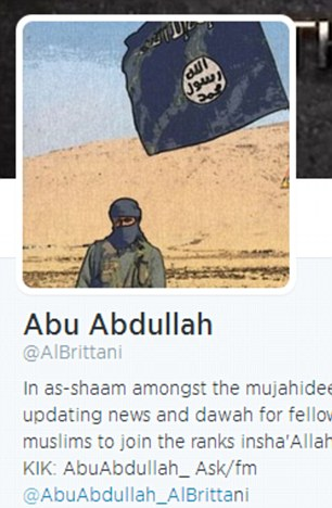 tweets and images from British Jihadi's twitter account</p><br /> <p>Abu Abdullah<br /><br /> @AlBrittani