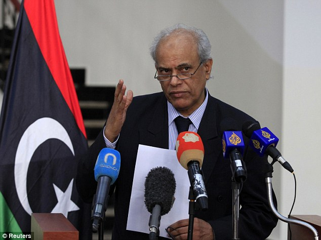 Condemnation: Libya's Justice Minister Salah al-Marghani on Wednesday demanded Khattala be returned to Libya to face trial there