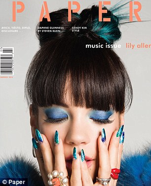 Cover girl: Lily was talking to the latest issue of Paper