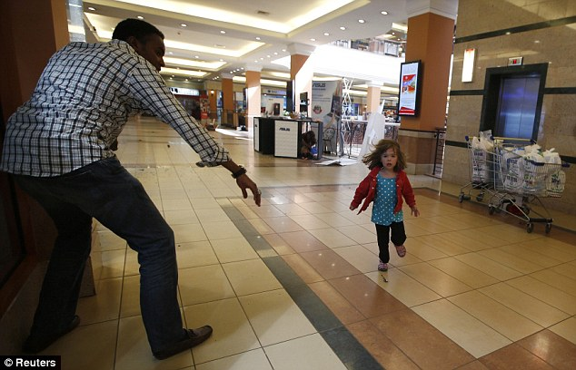 Little Girl At Westgate Mall In Kenya Runs For Her Life From Muslim Terrorists Seeking Non-Muslims To Kill