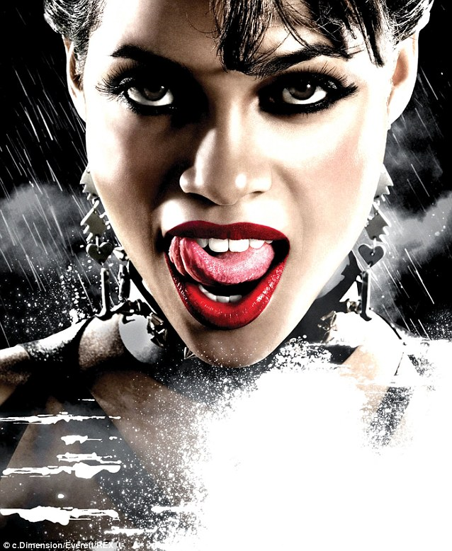Comic book action: Rosario, 35, is no stranger to movies based on comic series. She starred in Sin City in 2005 as dominatrix Gail