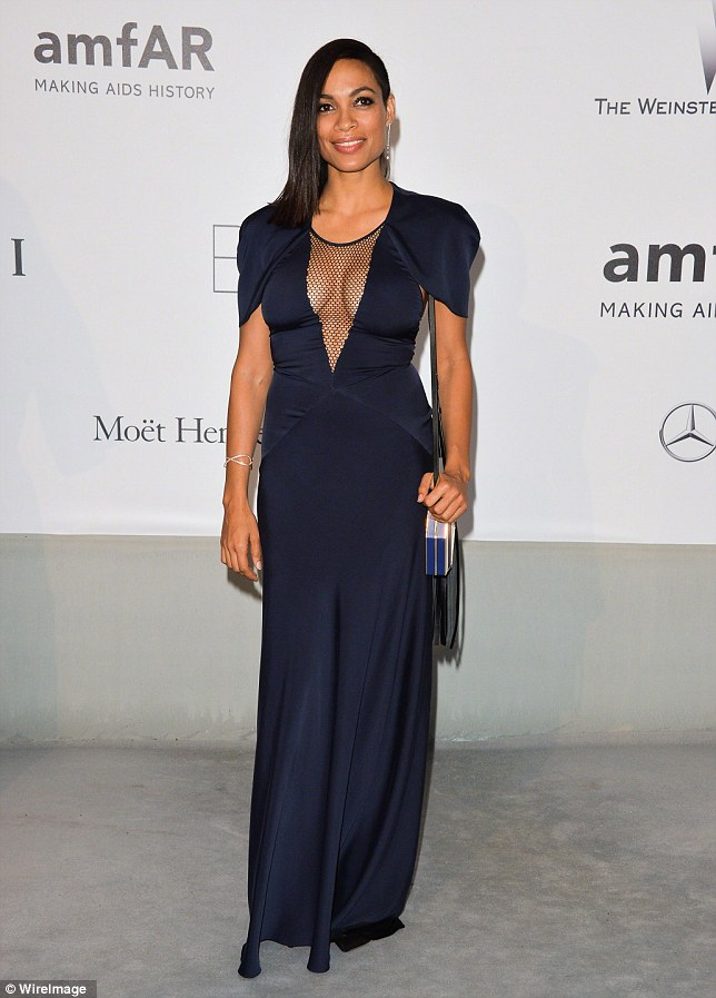 Respected: Marvel's Head of Television called Rosario charismatic, talented and powerful. The actress wowed in a midnight blue dress at the amfAR Gala in Cannes on June 22