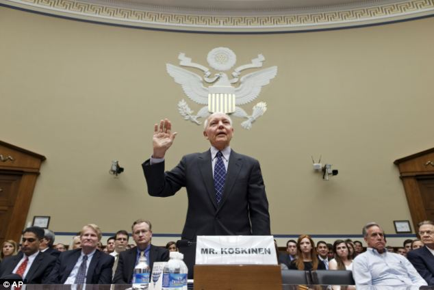 No apologies: In a separate congressional hearing on Friday, IRS Commissioner John Koskinen insisted the loss of Lerner's emails was due to an oddly timed glitch