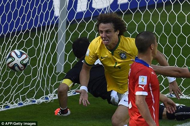 Image result for david luiz goal vs chile
