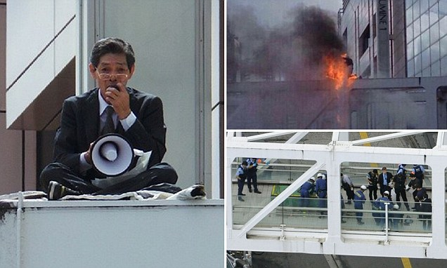 Man sets himself on fire