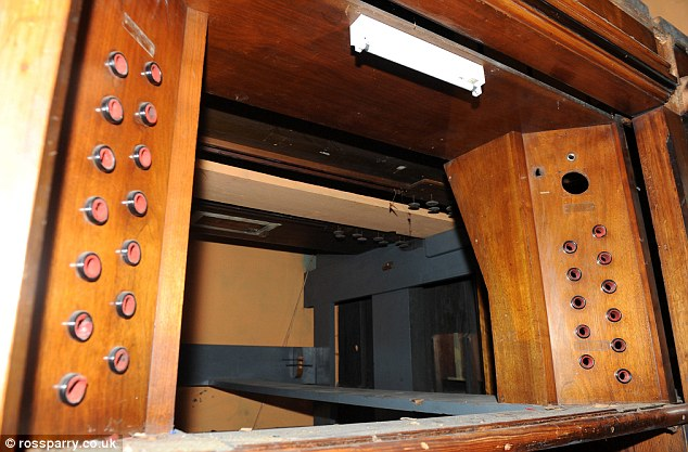Innards: The remnants were found inside the organ in a part sealed by thick wood to make it soundproof