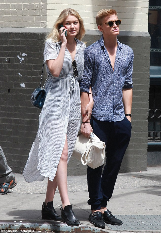 Romance: The model was spotted with her off-and-on again boyfriend Cody Simpson in New York on May 31