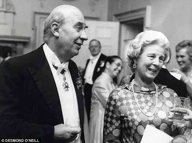Decorated: Sir Peter, wearing his medals, with Lady Hayman, his wife of 40 years