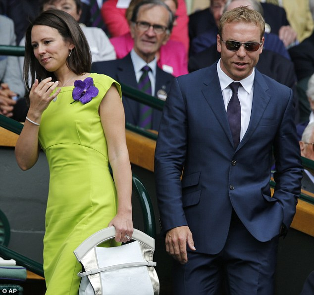 Knight of the realm: Olympic hero Sir Chris Hoy with wife Sarra