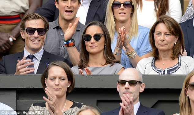 Sister act: Kate's young sister Pippa was also in attendance