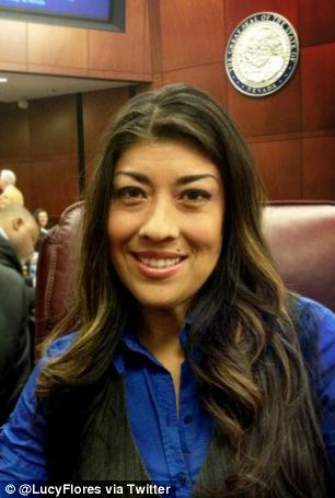 Heading for the top: Flores, pictured on her Twitter page, is a key figure for the Democrats