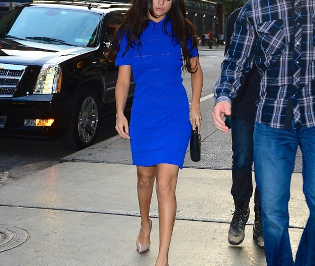 Selena Gomez Dazzled In A Blue Frock As She Headed To A