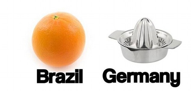 Orange crush: Brazil were completely outplayed by their German opponents
