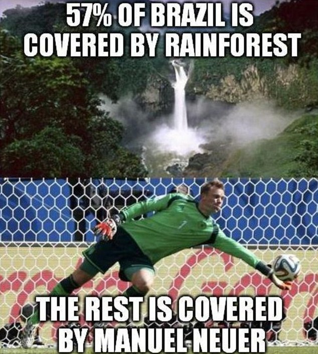 Rainforest: This viral paid tribute to Germany keeper Manuel Neuer, who had a quiet evening