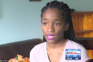 Shared: Jada, a 16-year-old from Houston, Texas, claims she was drugged and raped at a high school party, and that pictures of her assault were then posted online
