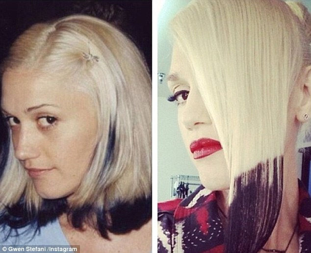 Dip The Tips Gwen Stefani Recreates Edgy Platinum Do