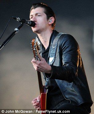 Going out with a bang: Alex and his band ensured the 85,000 fans who had travelled to the site got an adequate send-off