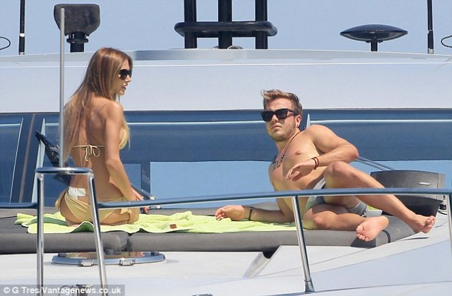 article 0 1FAFDD8200000578 742 634x415 World Cup winner Mario Gotze drops his underwear with girlfriend Ann Kathrin Brommel in Ibiza [Pictures]
