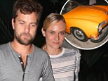 Hot wheels! Diane Kruger and Joshua Jackson cruise into West Hollywood for date night in slick vintage car