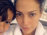 'Photobomb by my favorite boy!' Jennifer Lopez, 44, shares a beautiful barefaced selfie while joined by her son Max