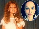 An 80's perm and a lacy 'wedding dress': Natalie Imbruglia posts cringeworthy throwback snap as she laughs about her look saying 'we thought we looked great!'