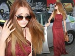 Nicola Roberts in red dress