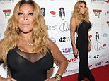 Nifty at 50! Wendy Williams shows off her surgically enhanced form in plunging black dress while ringing in milestone birthday