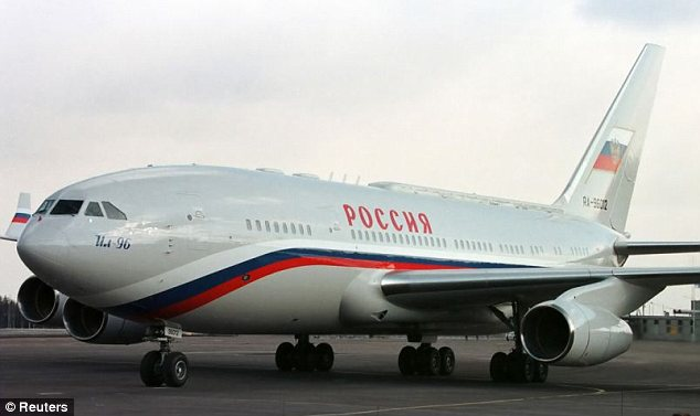 The presidential plane: Russia Today pointed out that Putin's presidential plane bears uncannily similar red and blue markings to those painted on all Malaysian Airlines craft, including MH17