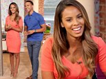Rochelle Humes is radiant in bright orange mini dress as she and husband Marvin return as guest hosts on This Morning