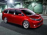 Family wagon: Toyota has revamped its Sienna minivan to make it sleeker and more appealing