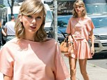Pretty as a peach! Taylor Swift looks oh so sweet as she struts around the Big Apple
