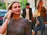 Going strong: Cameron Diaz and Benji Madden were pictured on a dinner date at Casa Vega Mexican restaurant in Sherman Oaks on Thursday