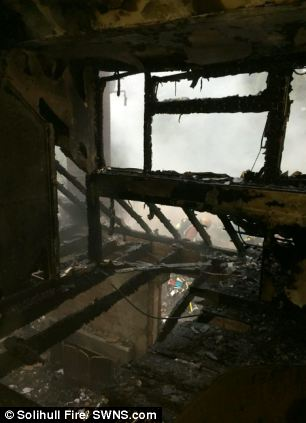 The result was the home was completely gutted