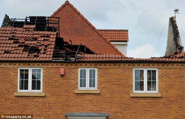 The upper parts of the house were left badly damaged once the fire was extinguished