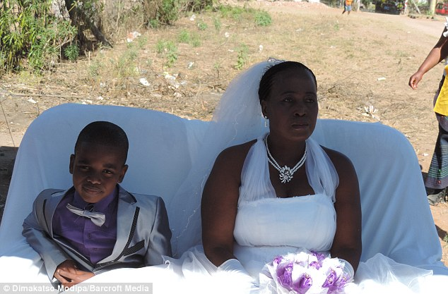 Last year the bride and groom tied the knot after Saneie claimed he had been told by his dead ancestors to wed and his family took the message from the heavens  very seriously