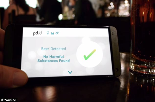 The gadget can also link to a smartphone to tell you what your are really drinking.