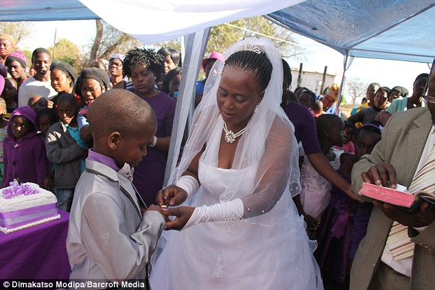 Sanele's 47-year-old mum, Patience Masilela, insists that the marriage is simply symbolic and not legally binding and that her son is very happy about the arrangement