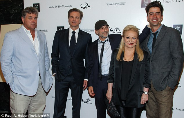 Stars of the show: Firth joined Tom Bernard, co-president of  Sony Pictures and actors Colin  Simon McBurney, Jacki Weaver and Hamisih Linklater at the screening