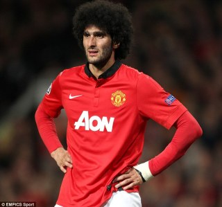 Fellaini in Manchester United Red Home Jersey