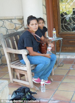 Women and children: The Texas Border Volunteers group regularly rescues border crossers who walk to the point of dehydrated exhaustion, and some turn up on their doorsteps