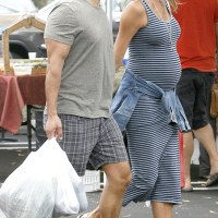 Stacy Keibler Shows off her Bump on a Grocery Shopping With her Husband Jared Pobre