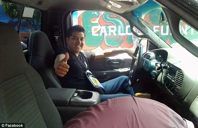 Otero Aguilar has also shared multiple photos of him either sitting in or standing next to cars