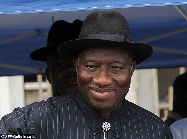 Nigerian president Goodluck Jonathan casting a vote in his country's 2011 elections